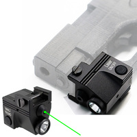 Rechargeable Tactical Green Laser Sight Flashlight Combo Low Profile Pistol Handgun Light With Green Laser