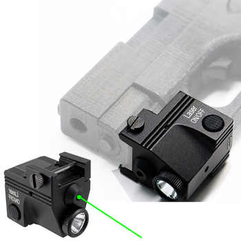 Rechargeable Tactical Green Laser Sight Flashlight Combo Low Profile Pistol Handgun Light with Green Laser - DISCOUNT ITEM  10% OFF All Category
