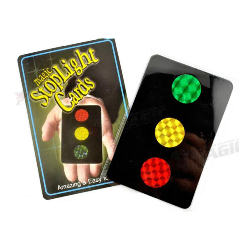 Magic Stoplight Cards Magic Tricks Stage Card Close Up Magic Trick Props Magician Toys For Children Gifts