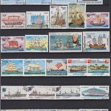 50 шт./лот лодка корабль парус все разные из многих стран без повтора неиспользованные почтовые марки для сбора