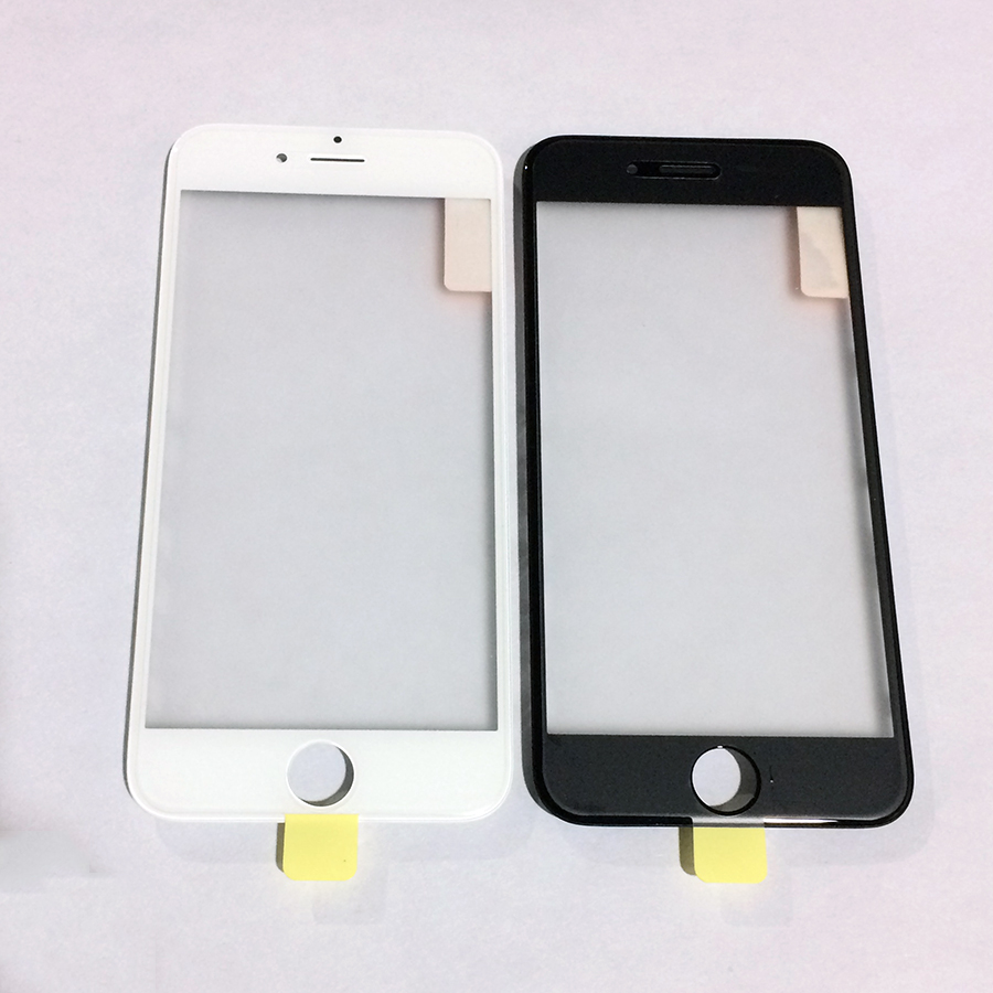 For iPhone 6S / 6S Plus 10pcs High Quality LCD Front Outer Screen Glass Lens with Frame Bezel and OCA Film Assembly Replacement image