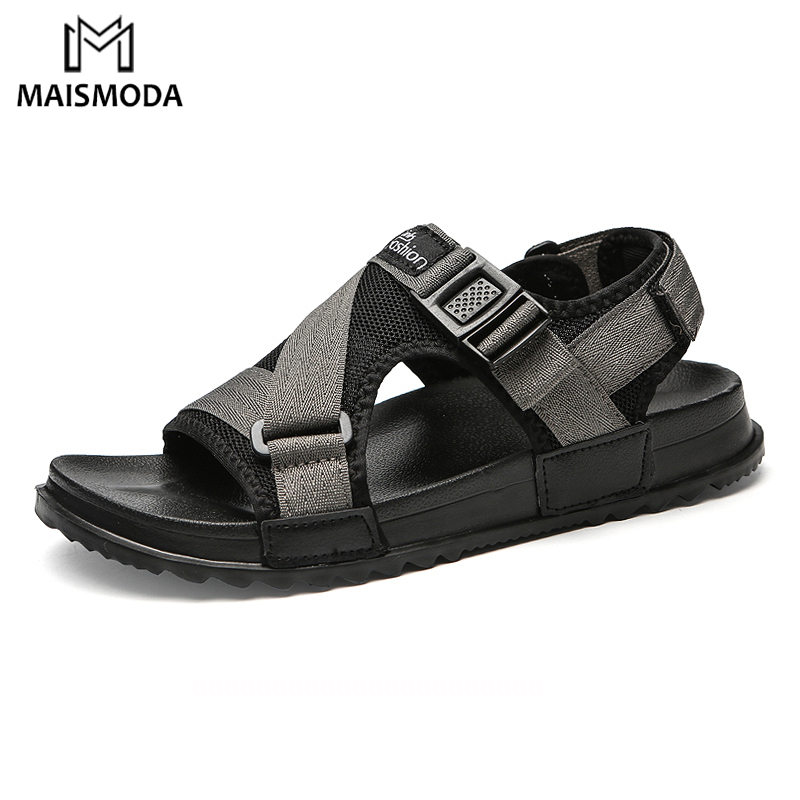 MAISMODA 2018 Fashion Summer Men Sandals Flat Soft Hard-wearing Flip Flops Beach Shoes Comfortable Outdoor Slippers YL492(China)