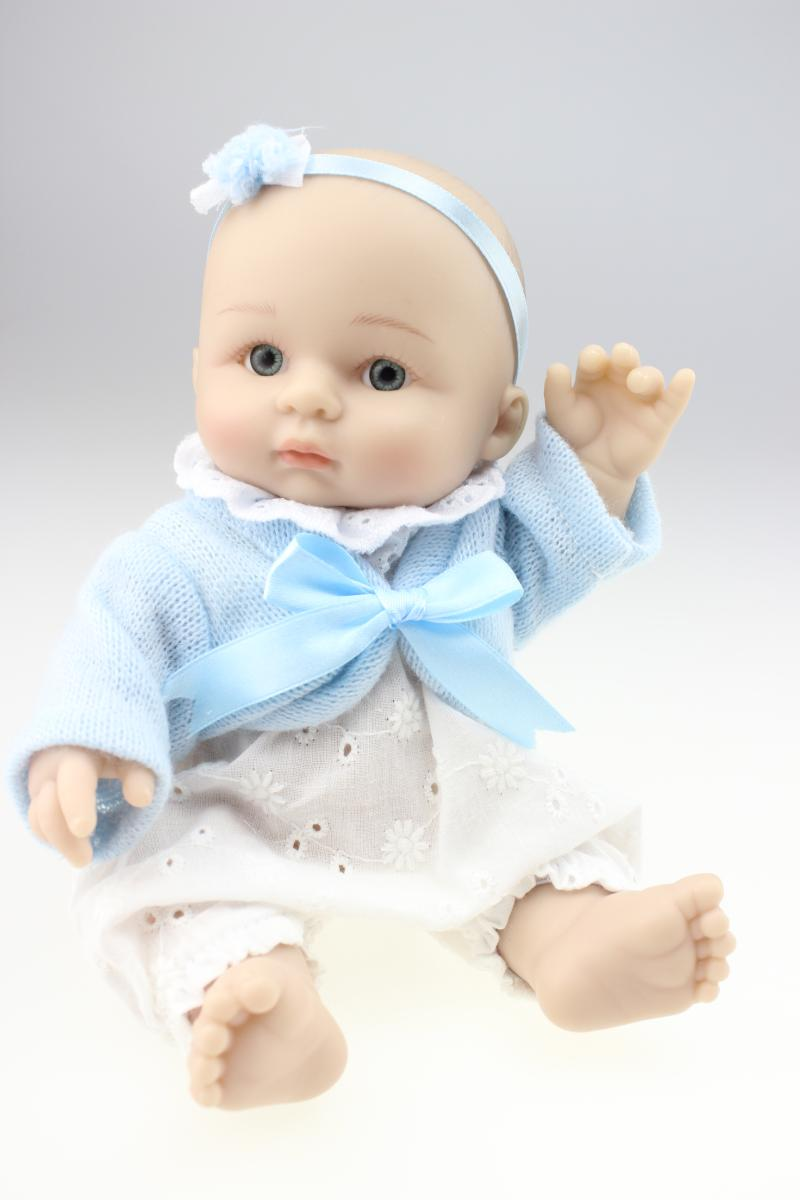 25cm Reborn Baby Doll Mini Full Silicone Girls Boys Baby Shower Dolls Safe  Silica Gel Kids Birthday Gift In Dolls From Toys U0026 Hobbies On  Aliexpress.com ...