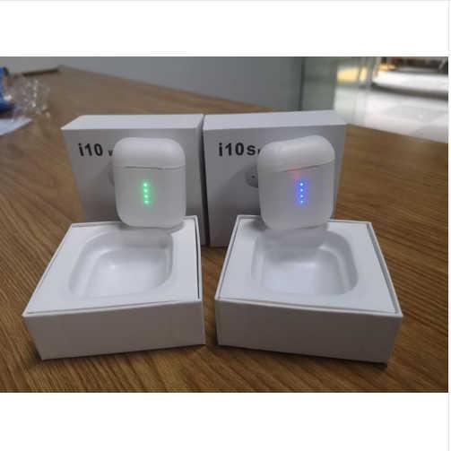 I10 tws auriculares Bluetooth auriculares inalámbricos auriculares 5,0 auriculares soporte de control táctil carga inalámbrica para todos los teléfonos inteligentes