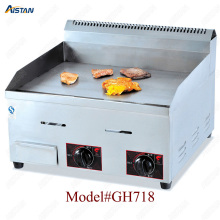 GH718 counter top desk top gas commercial grill griddle machine with grooved for kitchen equipment цена