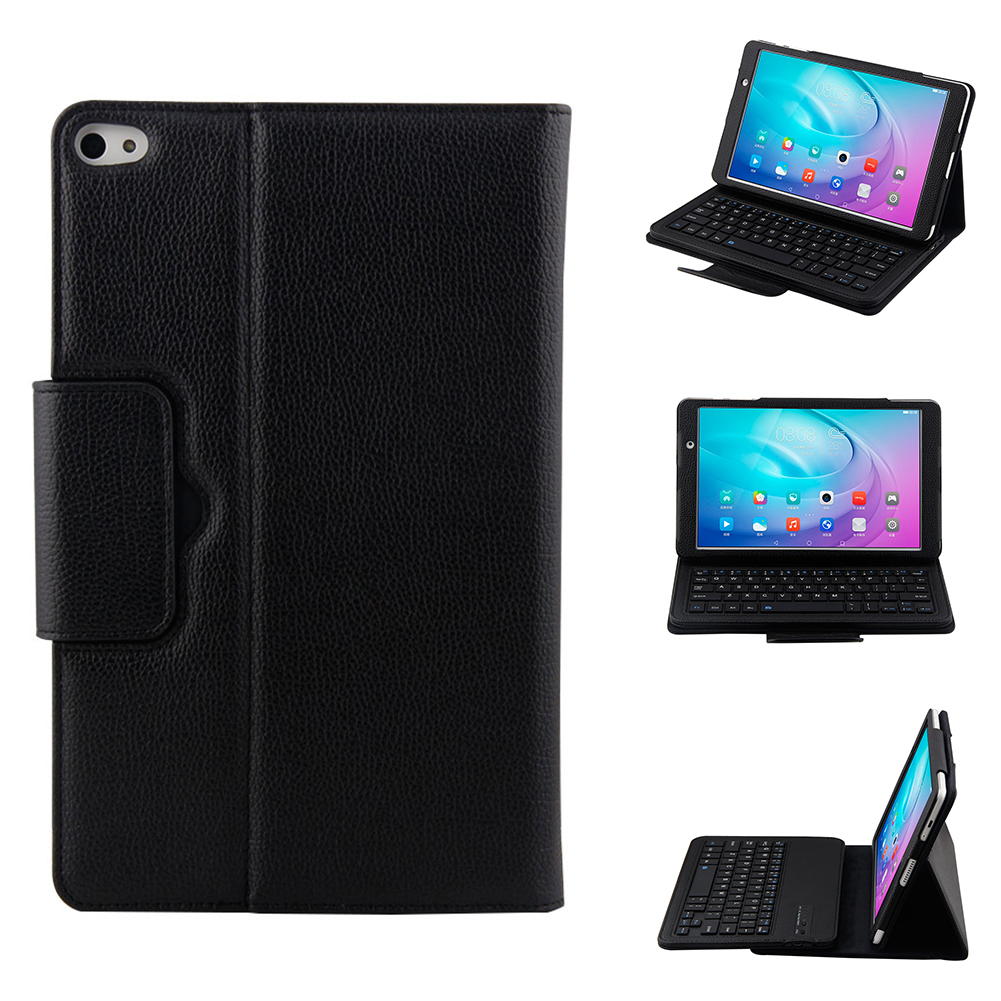 NI5L For Huawei MediaPad M2 10.1 inch Removable Wireless Bluetooth Keyboard + PU Leather Case Stand Cover