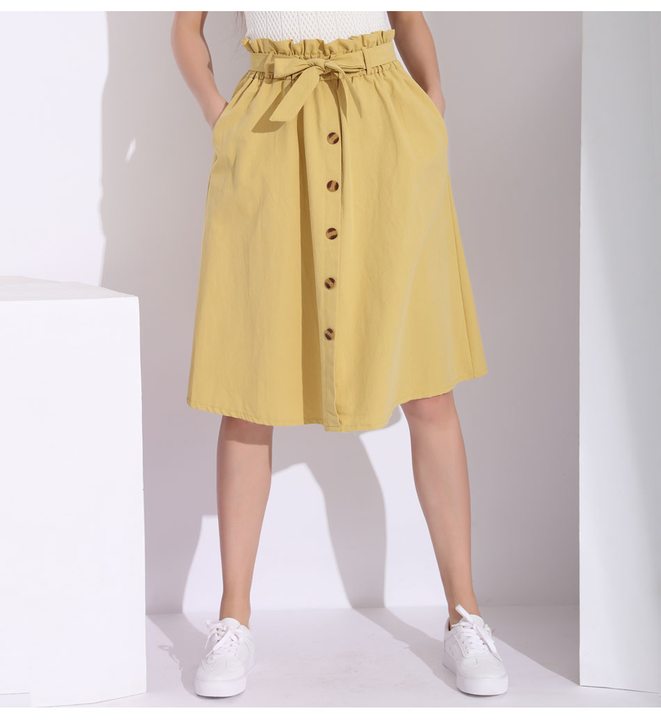 559f8a678 White Cotton Skirt Elastic Waist – DACC
