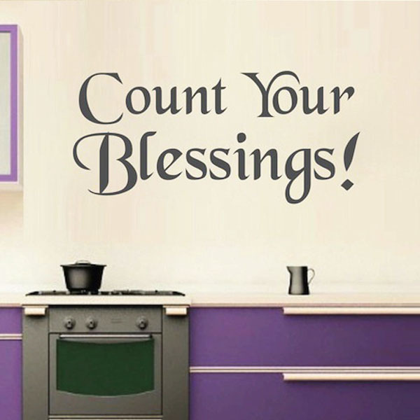 Removable Count Your Blessings wall art home decor Poster Wall ...