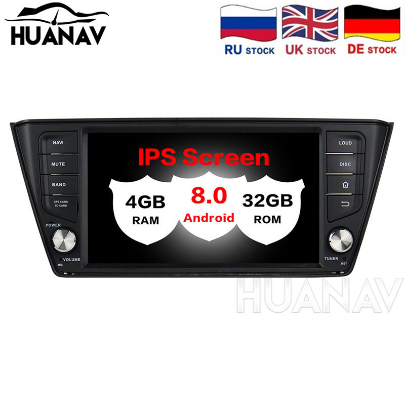 HUANVA Android8.0 Car DVD Player GPS navigation For Skoda Fabia nj3 2015 2016 2017 2018 multimedia player tape recorder stereo image