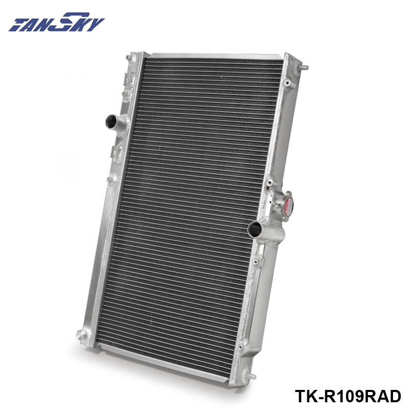 42MM 2 Row Aluminum Alloy Racing Cooling Performance Radiator For Mitsubishi Lancer EVO 7 8 9 2001-2007 MT TK-R109RAD relay radiator cooling fan control for 2002 06 03 04 mitsubishi lancer 1355a124