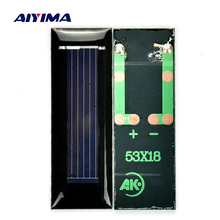 Aiyima 20pcs Mini 0.5V 100mA solar panel solar cells solar accessories For Science and Technology DIY 53*18*2.5mm