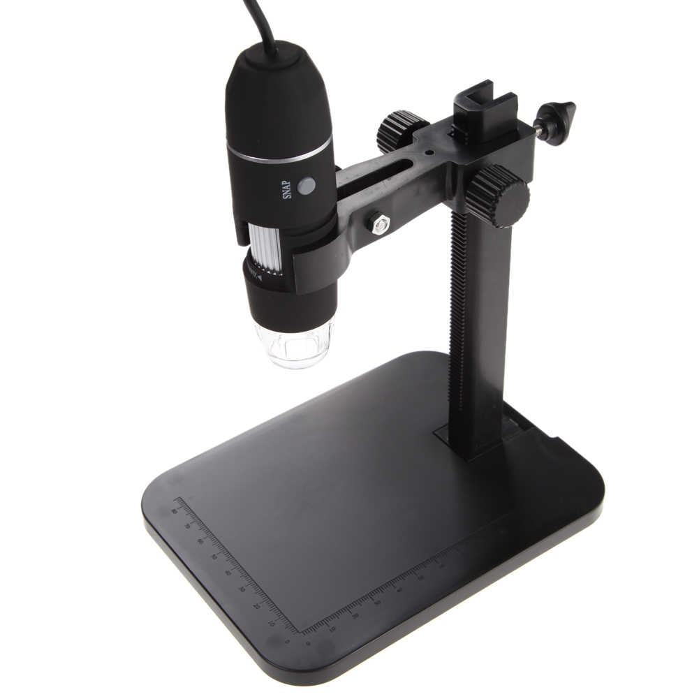 Portable USB Digital Microscope 1000X 8 LED 2MP Digital Microscope Endoscope Magnifier Camera+Lift Stand+Calibration Ruler
