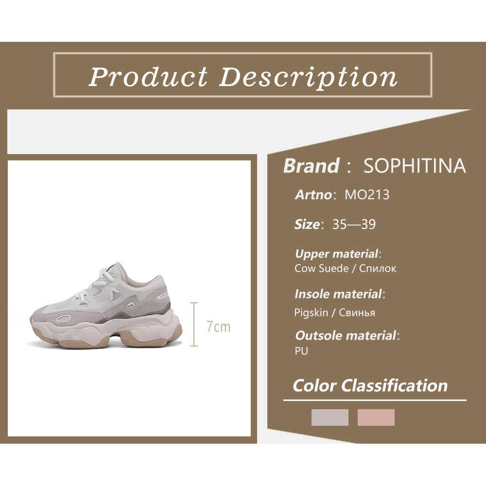 Sophitina Thời Trang Mùa Xuân, Mùa Thu Giày Giày Mũi Tròn Phong Trào Giày Kiểu Dáng Thoải Mái Cột Dây Dành Cho Nữ MO213
