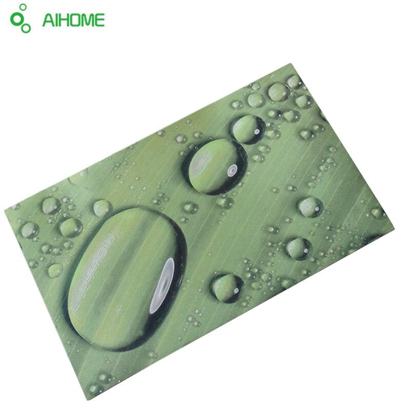 1 pcs 4060 cm douche antidrapant tapis de bain silicone paillasson salle de bains - Tapie Salle De Bain Aliexpress