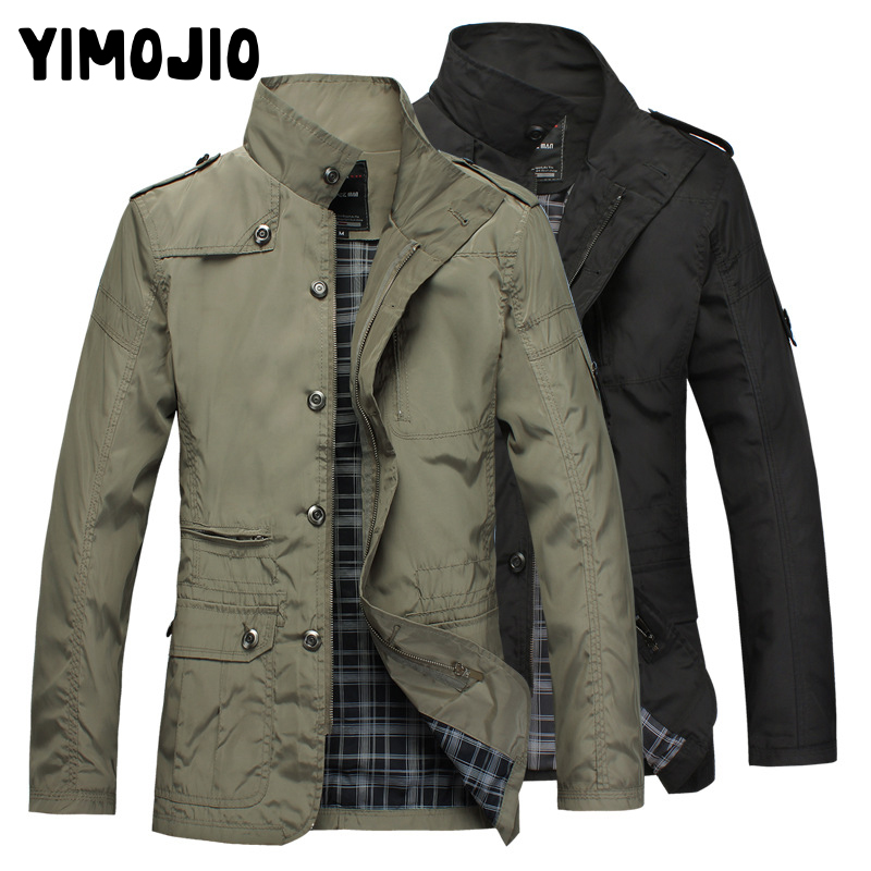 Coat Men Casual Long Jacket Men Trench Coat Streetwear Slim Thin Coat Men Solid Male Windbreaker Trenchcoat In Men Zipper Hot