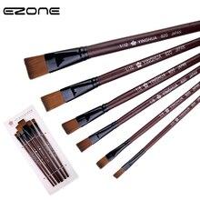 Painting-Brush Supply Watercolor Hair-Pen Art-Tools Acrylic-Gouache Nylon EZONE Brown