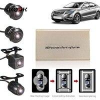 Newest 360 Degree Car Panoramic Cam Bird View HD 1080P 4 Camera Parking Recording Camera DVR USB System TF Card DVR G Sensor