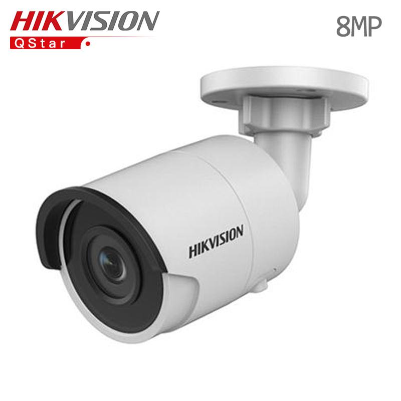 Hikvision Original English H.265 8MP mini IP Camera DS-2CD2085FWD-I 4K Bullet outdoor CCTV surveillance Camera onvif POE IP67 hikvision 3mp low light h 265 smart security ip camera ds 2cd4b36fwd izs bullet cctv camera poe motorized audio alarm i o ip67