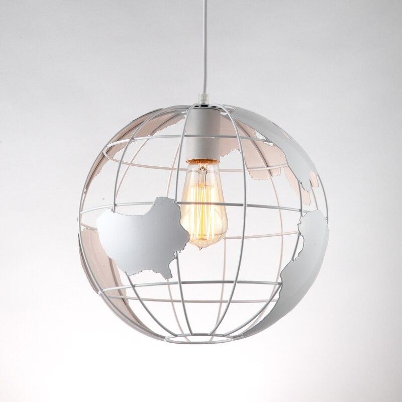 KUNG Globe terre LED pendentif lumière Moderne Creative Arts Café Bar restaurant chambre couloir lampe Scandinave minimaliste lumière
