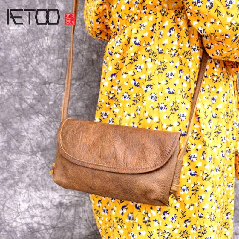 AETOO New Original handmade leather ladies envelope bag shoulder bag Messenger bag mini leather bag