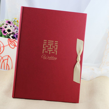 Красная свадьба Гостевая книга с лентой подпись книга для Свадебные украшения Приём Сувениры подарок брак событие для вечеринок