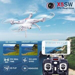 Image 3 - SYMA X5SW Quadcopter RC Drohne Mit Kamera Wifi FPV Echtzeit Übertragung RC Hubschrauber Headless Modus Drohnen Spielzeug Für Kinder