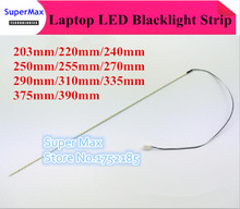 Светодиодная лента с подсветкой, 203 мм/220 мм/240 мм/250 мм/255 мм/270 мм/290 мм/310 мм/335 мм/375 мм/390 мм/417 мм 2 мм комплект для монитора ноутбука LCD ccfl