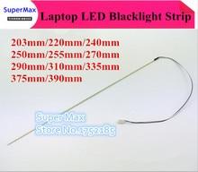 203mm/220mm/240mm/250mm/255mm/270mm/290mm/310mm/335mm/375mm/390mm/417mm 2mm led backlight streifen kit zu laptop monitor LCD ccfl