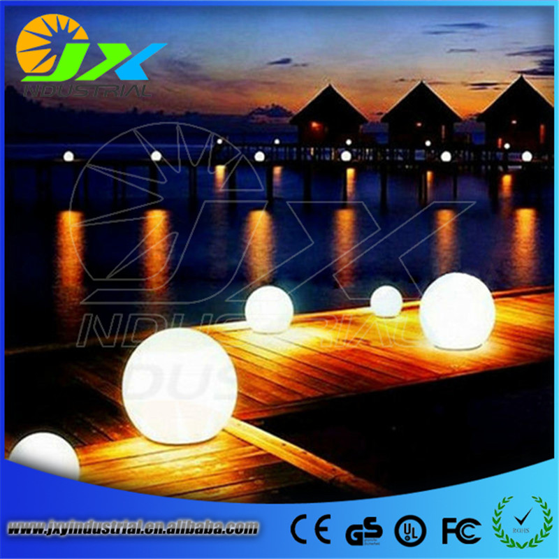 Round ball Dia20cm/30cm/40cm/50cm RGBW colors changing via remote outdoor rechargeable USA style led garden light