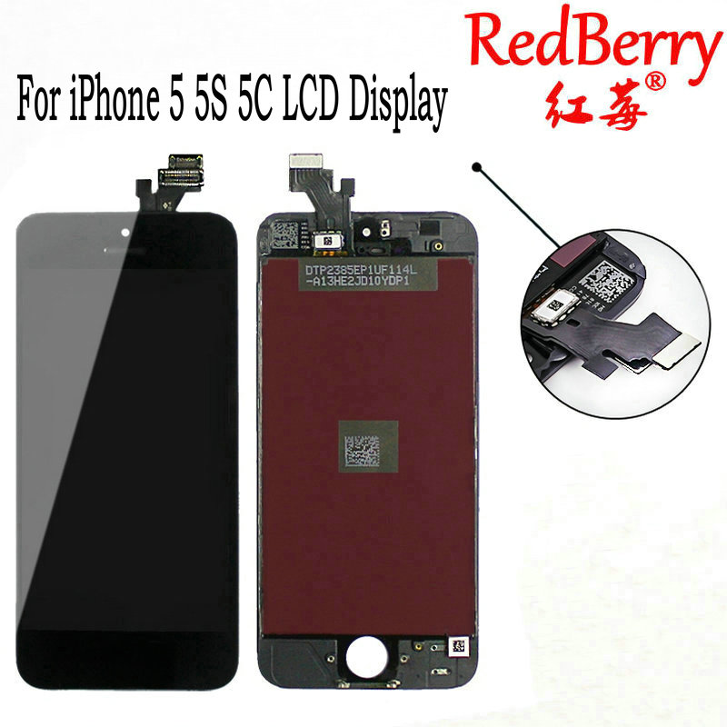 Redberry 100% A+++ Quality LCD Assembly For iPhone 5 5S 5C LCD Display with Touch Screen Digitizer for iPhone 5 LCD Screen+tools