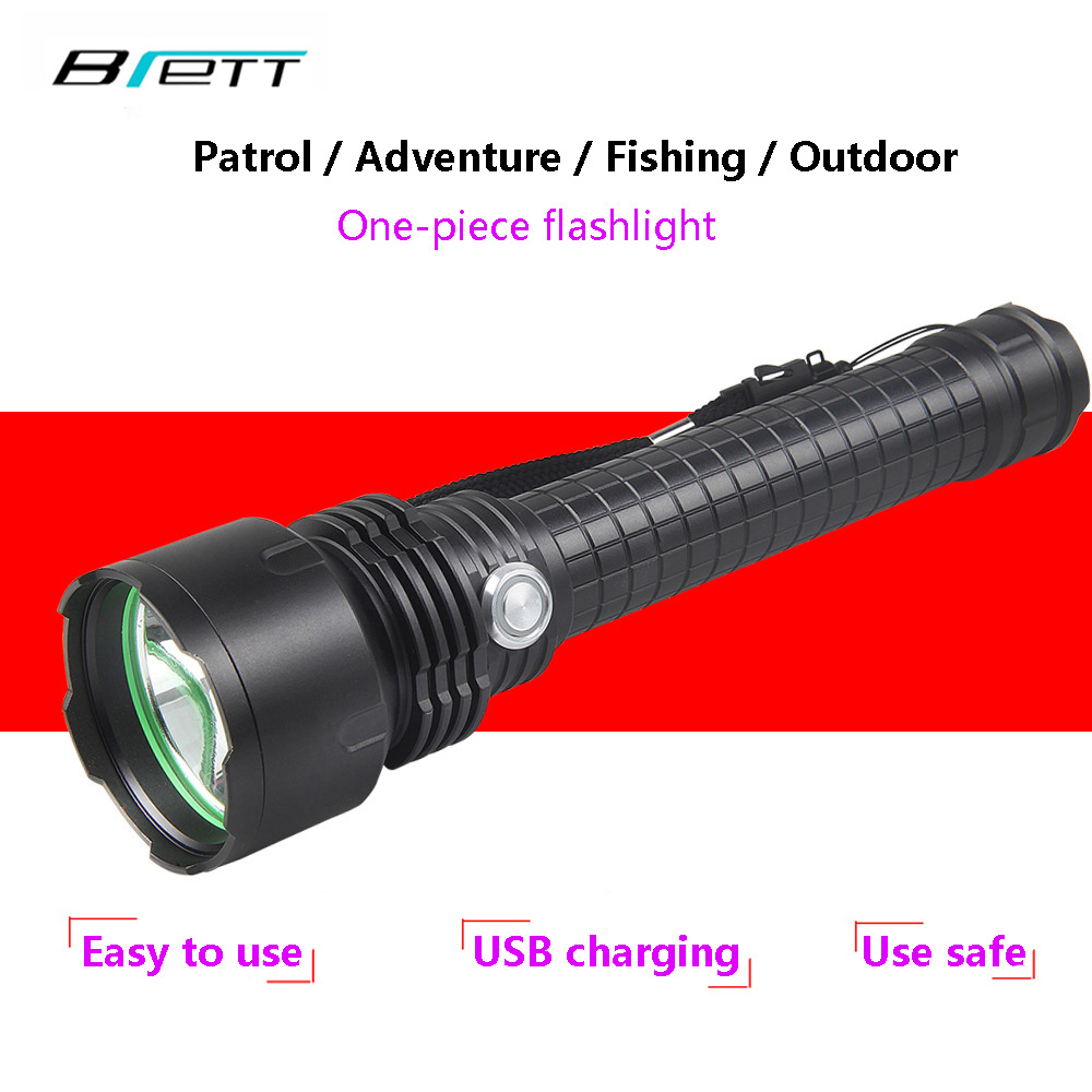 цены USB Flashlight 18650 or 26650 parallel battery cree xm-l2 Outdoor Self Defense Patrol Hunting Camping Powerful led flashlight
