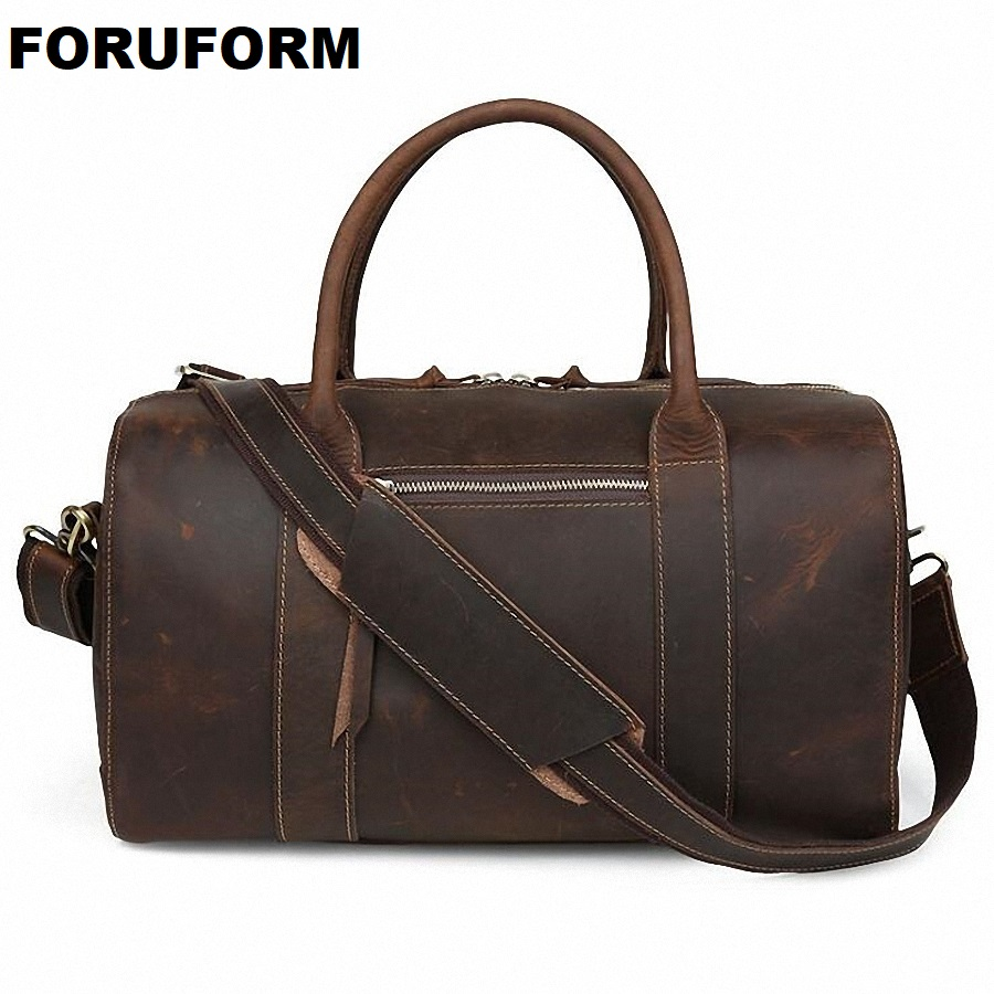 New Arrival Crazy Horse Leather Unisex Huge Luggage Bag 100% Genuine Leather Travel Duffle Bag Tote Bag Retro Travel Bags LI-643 карта мира 1 20 000 000