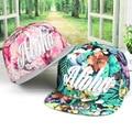2016 casquillo de la manera para el vestido de verano snapback sombrero de ala plana hip hop diseño tela de algodón llena flral aloha logo bordado