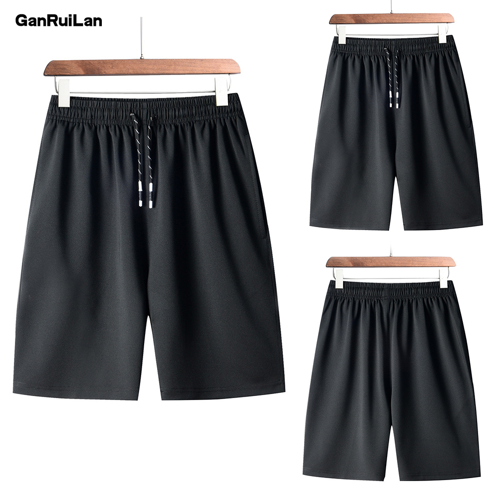 New Men Gyms Fitness Loose Shorts Bodybuilding Joggers Summer Quick-dry Cool Short Pants Male Casual Beach Men Short DK19025