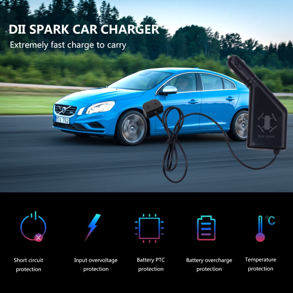 2 In 1 Car Charger Battery Charging USB Port Remote Control Charge For DJI SPARK Accessories Drone Kits From Consumer Electronics On