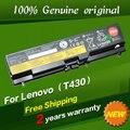 Envío libre batería original del ordenador portátil para lenovo thinkpad w530 l430 t430 t530 t430i t530i w530i l530 48wh