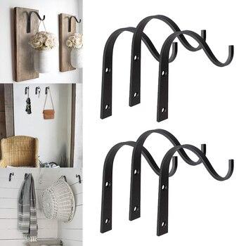 HOT 10pcs/20Pcs Iron Hanger Wall Hooks for Hanging Lantern Planter Coat Rustic Home Decor TI99