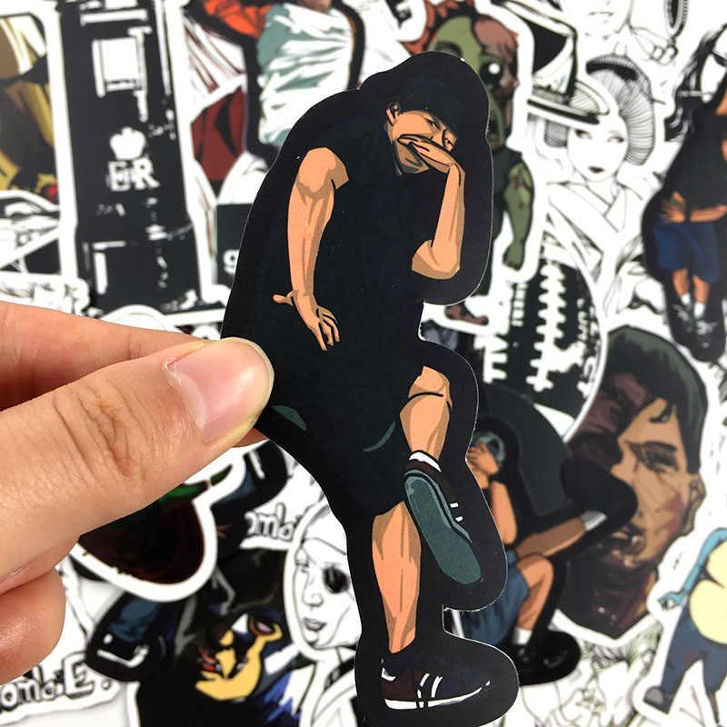 50 pçs japão anime horror zombie graffiti jdm etiqueta para o portátil guitarra motocycle bagagem skate doodle decoração brinquedo adesivo