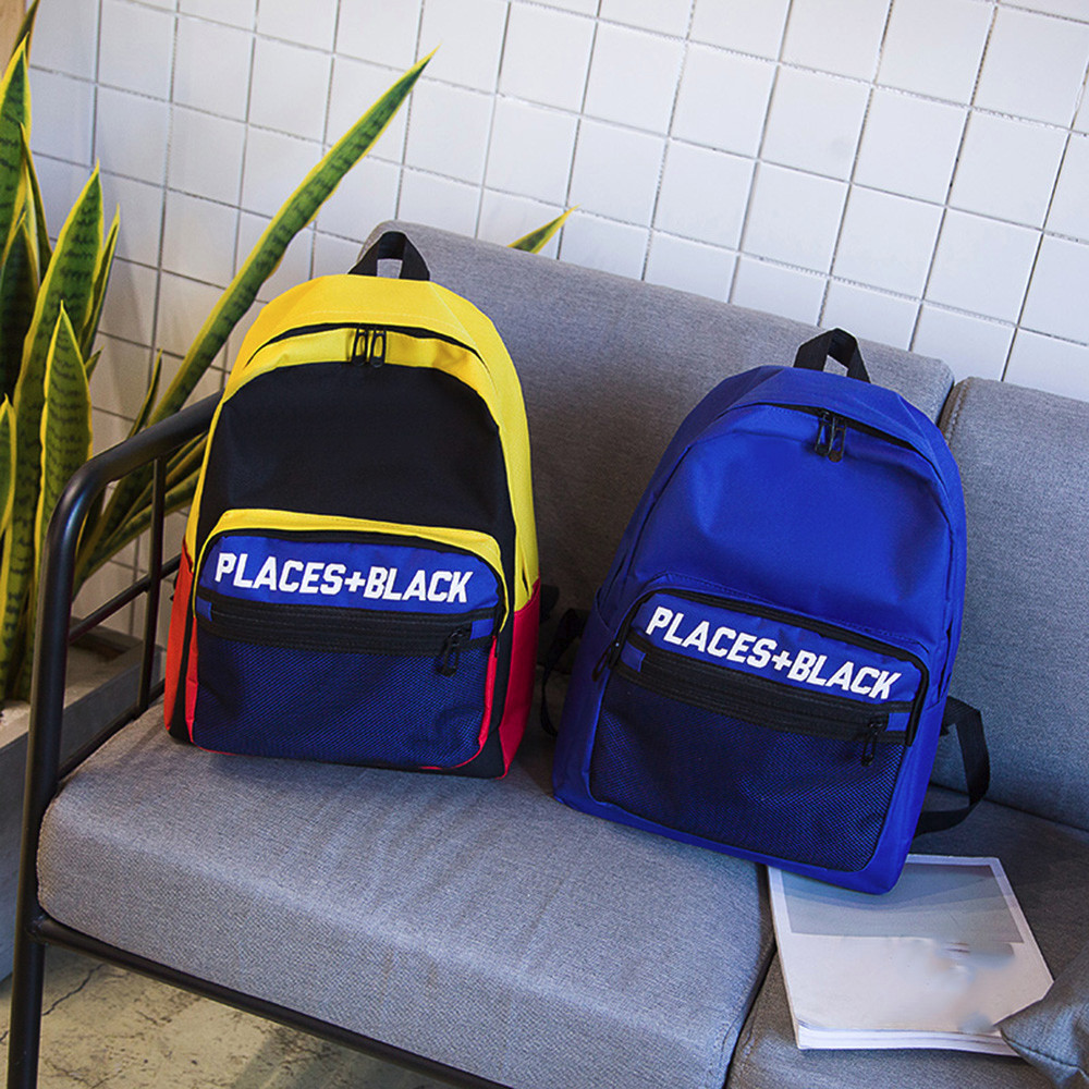 anti-theft backpack Adult Children Boys Girls Letter Mesh Print Outdoor Backpack Bookbag School Bags Preppy Style Soft  Teenage