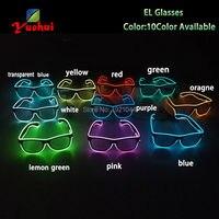 30 stuks Groothandel EL Gloeiende Product EL Draad Licht up Bril LED glazen decoratie met Steady op Driver Glow Party levert