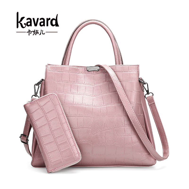 Kavard Fashion Alligator Women Leather Handbags Big Tote Bag Women Coin Purses And Handbags Clutches Shoulder Bags Sac A Main white women bag purses and handbags sac a main femme fashion genuine leather shoulder bags 2016 hollow out lady composite bag