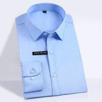 Men S Bamboo Fiber Dress Shirts Comfy Soft Slim Fit Easy Care Solid Long Sleeve Smart