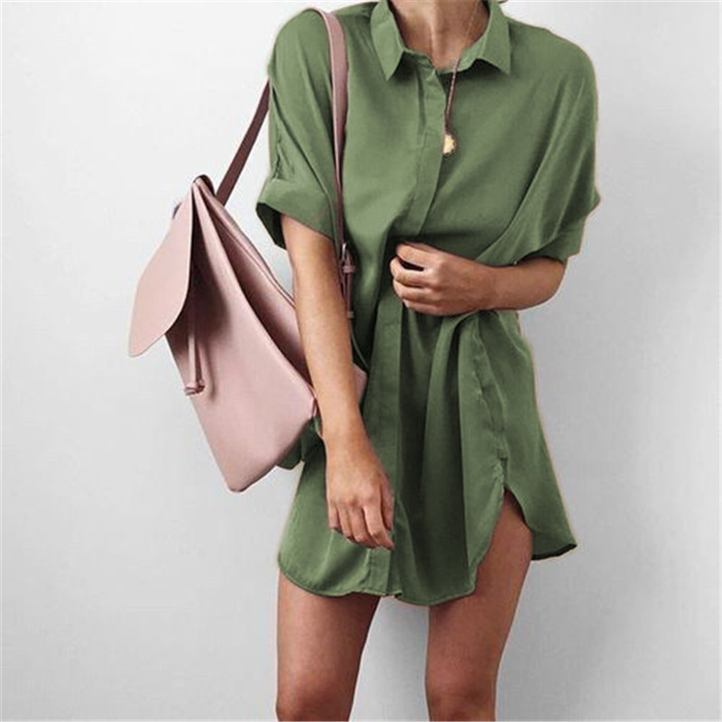 4-Colors-Short-Sleeve-Maternity-V-neck-chiffon-blouse-summer-fashion-casual-solid-Color-shirts-loose (5)