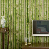 Beibehang Modern Chinese Retro Simulation Bamboo Wallpaper Live Room TV Background Farmhouse Green Bamboo Wallpaper