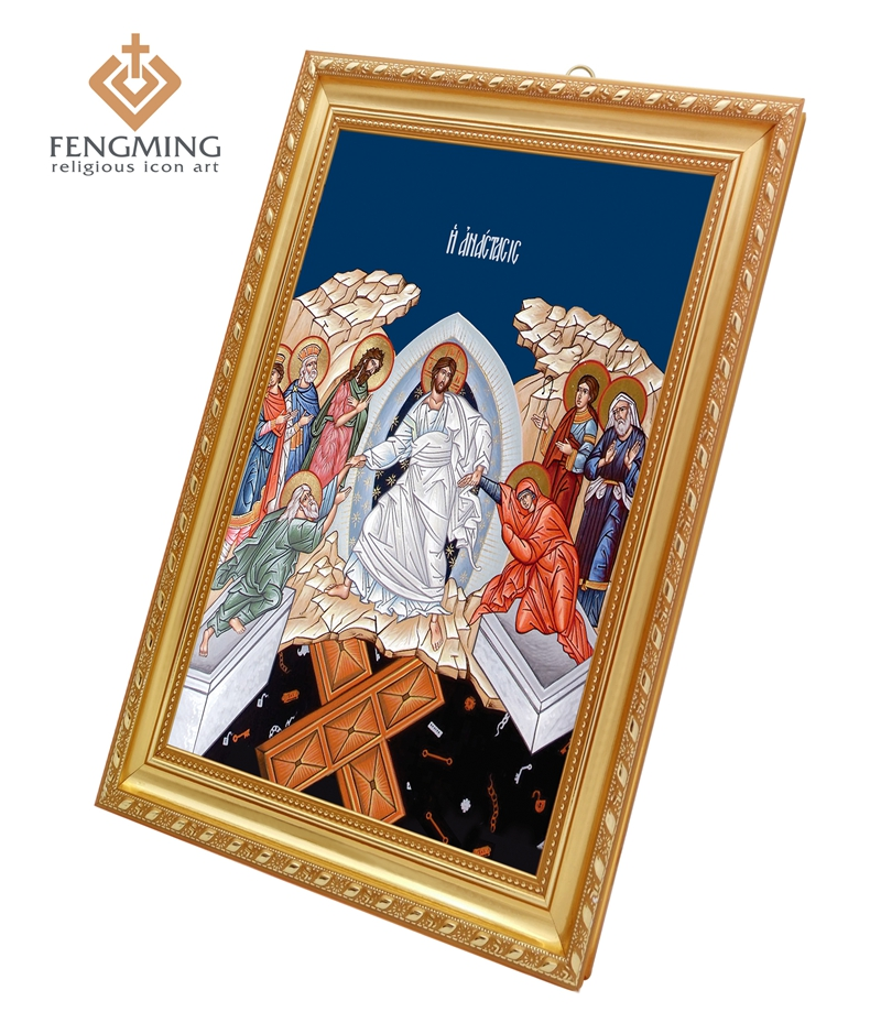 2016 Cheap High Quality Russian Classic religious products byzantine art for sale Descent into Hades icon in plastic photo frame