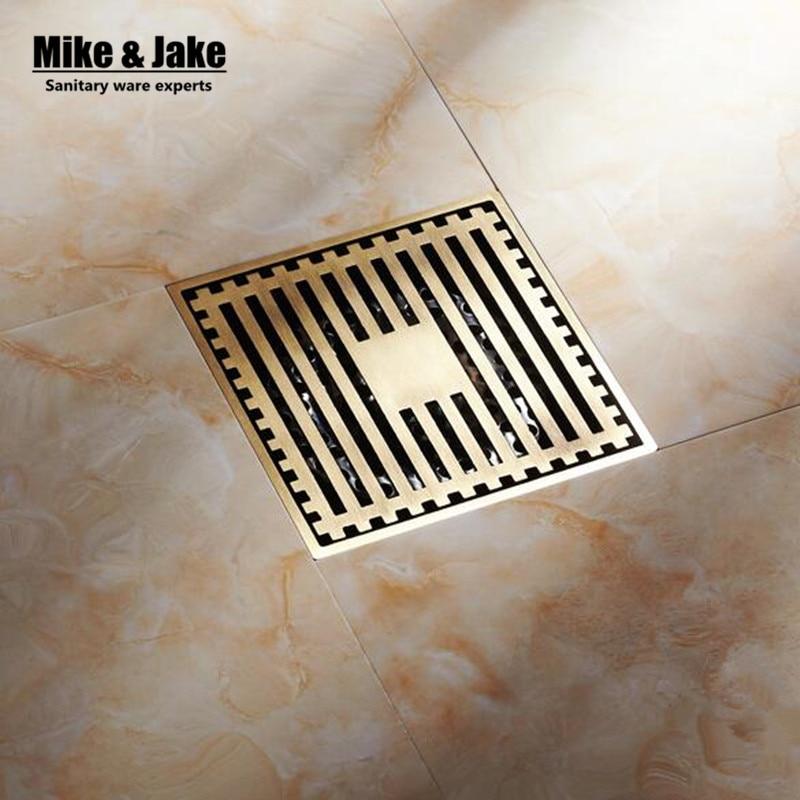 Bathroom Floor Waste Smell : Rose golden bathroom floor drain cm stainless steel