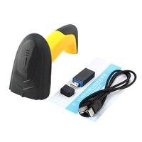 100 Brand New Hot Wireless CCD Barcode Scanner Red Light Label Reader Handheld Barcode Scanning Gun