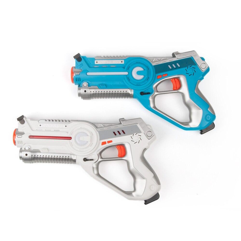 2 pièces Laser infrarouge Tag Blaster Laser Bataille Pack avec Mécanique Vers Intérieur et Extérieur Activité Familiale pour Enfants et Adultes - 2
