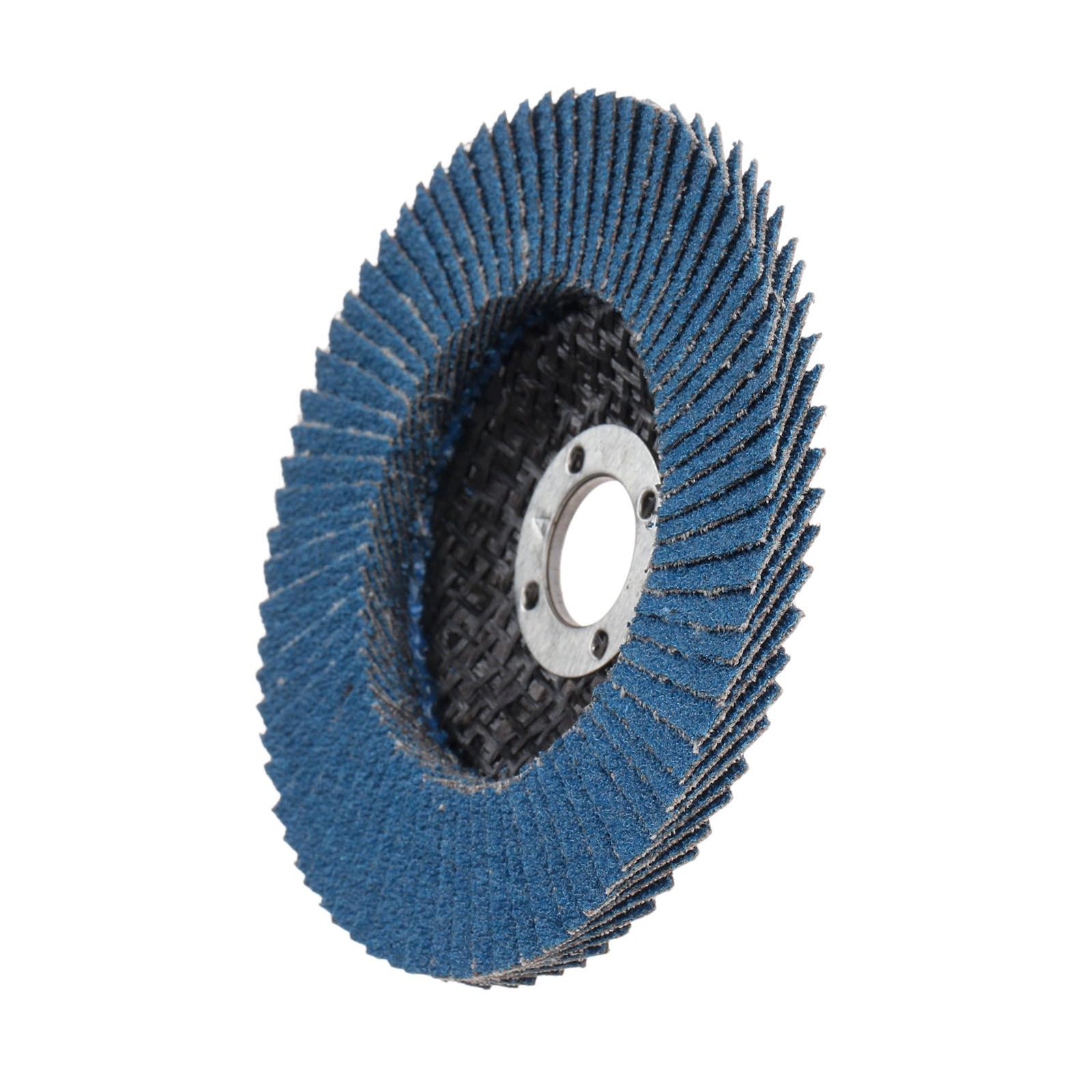 DRELD 100mm Grinding Wheel Flap Discs Dremel Accessories Angle Grinder Sanding Discs Abrasive Tool 80 Grit Blue For Wood Metal
