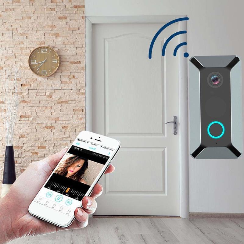 V6 Wifi Doorbell Smart Wireless 720P Video Camera Cloud Storage Door Bell Cam Waterproof Home Security House Bell Home Security